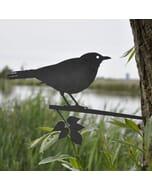 Merel - metalen vogel voor in de tuin