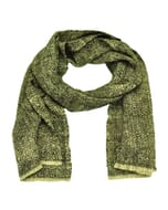Vida - superzachte sjaal van yakwol en ruwe zijde uit Nepal - crème
