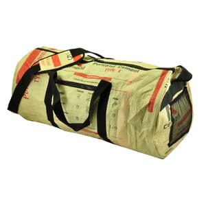Jumbo - special weekend, sports or travel bag from recycled cement bags