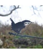 Winterkoninkje- metalen vogel voor in de tuin